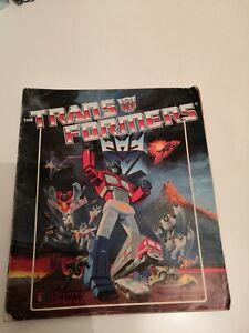Transformers 1986 Complete Panini Sticker Album