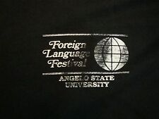 Vintage Foreign Language Festival Angelo State University ASU College T Shirt XL