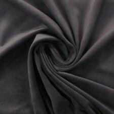 """DESIGNER VELVET PEWTER GRAY 100% COTTON DRAPERY CUSHION MULTIUSE FABRIC BTY 54""""W"""