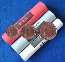 1 + 2 + 5 Cent Kursmünzen Luxemburg 2002 Neu und UNC