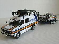 IXO FORD TRANSIT, ALTAYA ESCORT GMP TRAILER 1:43 Scale ROTHMANS RALLY ASSISTANCE