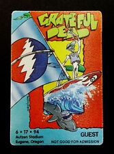 Grateful Dead Backstage Pass Eugene Oregon Or 6/17/94 6/17/1994 Surf Windsurfing