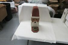 Christmas Santa Claus Hand Made Cedar Birdhouse With Feeder 17""
