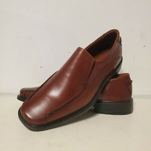 Mens Ecco Loafer Slip On Cognac Shoes Size 9 (EU 42) 35864 EUC