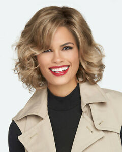 BRAVE THE WAVE Wig RAQUEL WELCH, SS613 Shaded Platinum, CLEARANCE Mono Part+Lace