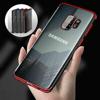 Samsung Galaxy S8  Red Slim Protective Shockproof Clear Case Cover