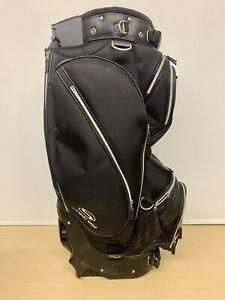 Stewart F1/F1S Golf Bag With Built in Trolley Handle - Black