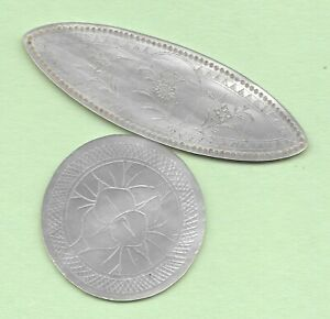 2 ANTIQUE MOP MOTHER OF PEARL GAMING TOKENS