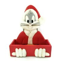 Vintage Warner Bros 1995 Bugs Bunny Santa Ceramic Christmas Card Holder