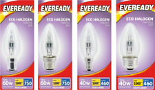 20 x Eveready ECO Halogen Energy Saving Candle Bulbs E14 B22 E27 B15 20w 33w 48w