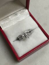 SPARKLING 14K WHITE GOLD MARQUISE DIAMOND WEDDING SET .29 TCW