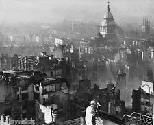 "London Blitz Bomb Damage View From St Paul's Cathedral World War 2 5x4"" Photo"