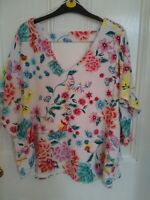 M&S  Per Una white Floral Layered Top size 16 New with tags