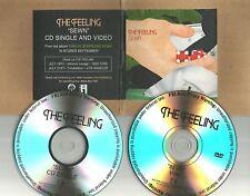 THE FEELING Sewn w/ VIDEO PROMO Radio DJ CD & DVD single 2006 MINT