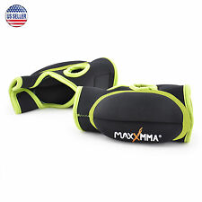 MaxxMMA Weighted Gloves 0.75 lb ea 1.5 lb set (Neon)