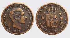 SPAGNA - ALFONSO XII -AE/ 5 CINCO CENTIMOS 1877