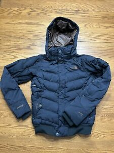HOT TNF Womens THE NORTH FACE @ RECCO 600 GOOSE DOWN BOMBER SNOW BLACK JACKET XS