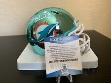 "Mark ""SUPER"" Duper Miami Dolphins Signed Chrome Mini Helmet w Beckett COA"