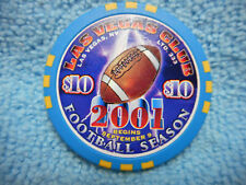 $10 Las Vegas Club September 9, 2001 Start of Football Season Casino Chip