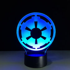 Luce Notturne Acrilico Natale 3D Star Wars Galactic Empire Logo Night light LED