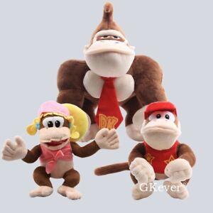 Diddy Kong Donkey Kong Super Mario Dixie Kong Plush Doll Stuffed Figure Gift Toy