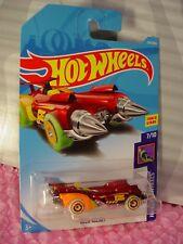 OLLIE ROCKET #134✰red/orange✰GLOW✰Track Stars✰2018 Int'l Hot Wheels WW case F