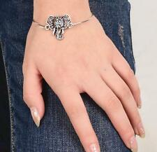 Animal Elephant Silver Plated Cuff Bracelet Bangle Jewelry Fashion for Woman New