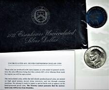 1973-s Eisenhower Uncirculated Silver dollar in original Mint packaging