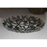 French-Style Iron Fruit Bowl Plate   ---------  Silver