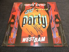 """WESTBAM signed autographed """"AND PARTY"""" Vinyl Record InPerson LOOK"""