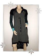 Magnifique Robe Asymétrique Fantaisie Noire et Marron La Mode est à Vous T 38