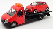 Burago 1/43 Scale #18 31400 - Fiat 500 Car And Generic Flatbed Truck