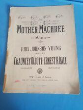 Mother Machree 1910  Sheet Music  Chauncy Alcott