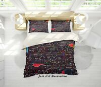3D Blackboard Math Problems Quilt Cover Duvet Cover Comforter Cover Single 1
