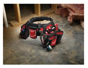 Milwaukee Electrician Tools Belt 29 Pockets Carpenter Storage Pouch Belt Bag