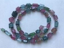 125ct Gem GradeMuliti color Hand polished Faceted Afghan Tourmaline Beads string