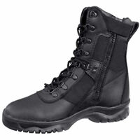 "Forced Entry Tactical Boot Black 8"" Side Zip  5053 Rothco"
