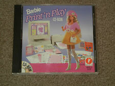 BARBIE Print'n Play (Video Game, CD-ROM, Windows 3.1/95, PC, Rated E-Everyone)