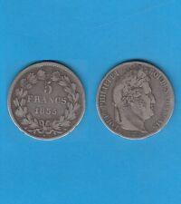 µ Gertbrolen µ  Louis-Philippe  5 FRANCS Argent tête laurée 1835 Paris Ex N° 1