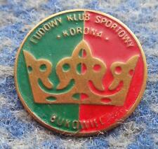 KORONA BUKOWIEC POLAND FUSSBALL SOCCER FOOTBALL CLUB 1980's PIN BADGE
