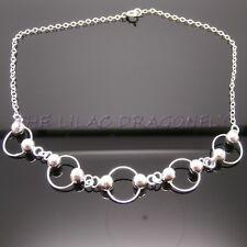 925 Sterling Silver Ring / Circle & Ball  Anklet / Ankle Bracelet Gift Bag UK