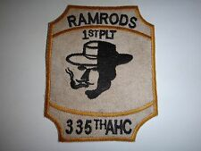 """US 335th Assault Helicopter Company 1st Platoon """"RAMRODS"""" Vietnam War Patch"""