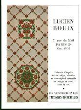 Publicité ancienne papissier décorateur Lucien Bouix 1959