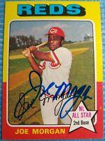 GORGEOUS! 1975 Topps Joe Morgan Signed Autographed Baseball Card Auto JSA AH LOA