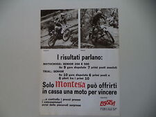 advertising Pubblicità 1977 MOTO MONTESA CROSS e RUSTIGNOLI/TRIAL e ADAMOLI