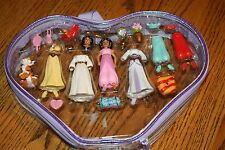 Polly Pocket Disney Princess Jasmine Aladdin Fashion Set & Accessories in Case