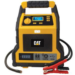 1000 Peak Amp Portable Car Jumpstarter CAT Professional Jump Starter &Compressor
