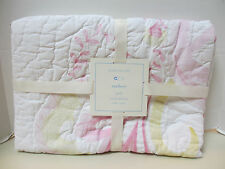 """New Pottery Barn Kids Mallory Butterfly Toddler Nursery Quilt Pink 36 x 50"""""""