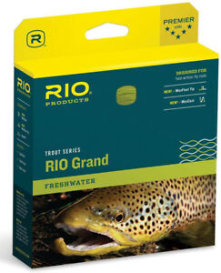 Rio Grand WF-8  Floating Fly Line - Camo/Tan -Free US Ship