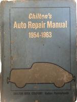 Chilton's Auto Repair Manual 1954-1963 Hardcover